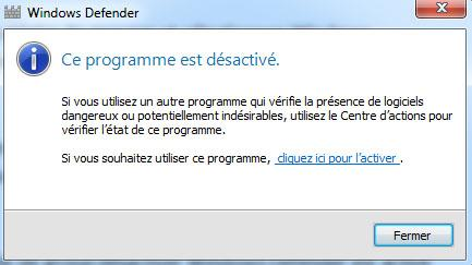 desactiver windows defender sous w10 4