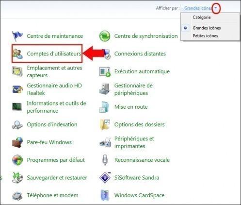 disque de reinitialisation de mot de passe windows7 1