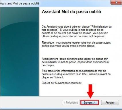 disque de reinitialisation de mot de passe windows7 3