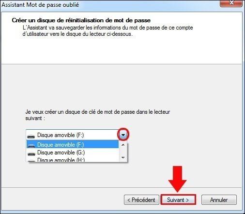 disque de reinitialisation de mot de passe windows7 4