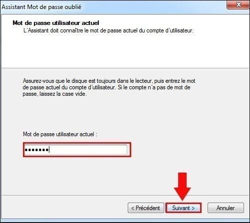 disque de reinitialisation de mot de passe windows7 5