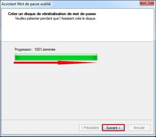 disque de reinitialisation de mot de passe windows7 6