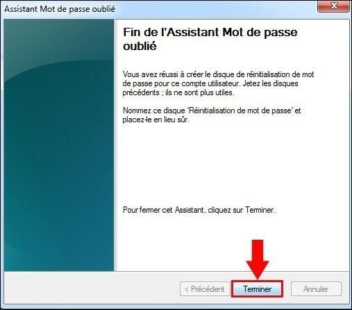 disque de reinitialisation de mot de passe windows7 7
