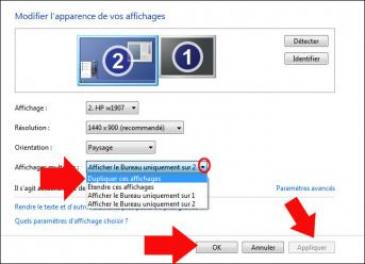 double affichage windows 7 2