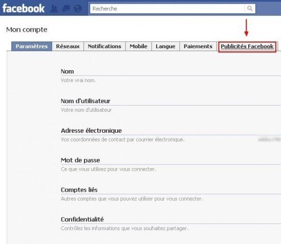 empecher l utilisation du profil dans les publicites facebook 1