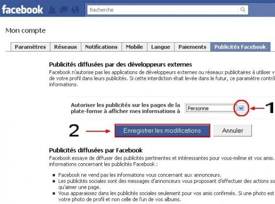 empecher l utilisation du profil dans les publicites facebook 3