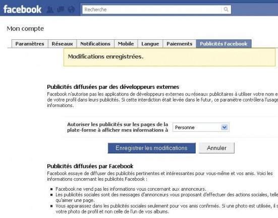 empecher l utilisation du profil dans les publicites facebook 4