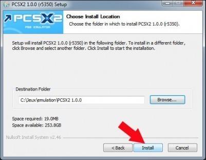 emulateur playstation 2 pcsx2 installation 2