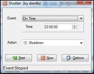 eteindre automatiquement son pc avec shutter 5