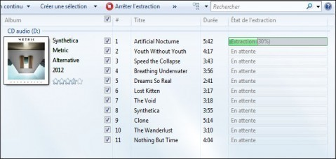 extraire la musique d un cd audio windows 7 4