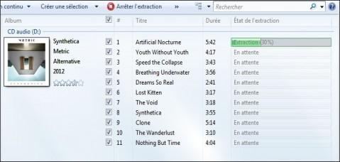 extraire la musique d un cd audio windows 7 4