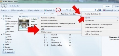 extraire la musique d un cd audio windows 7 1
