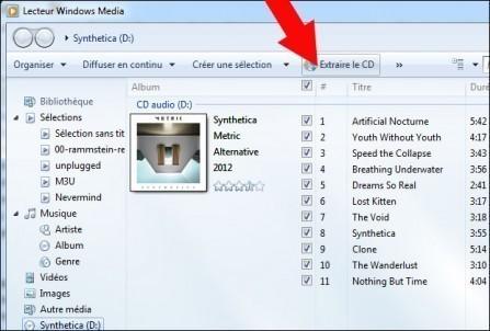 extraire la musique d un cd audio windows 7 3