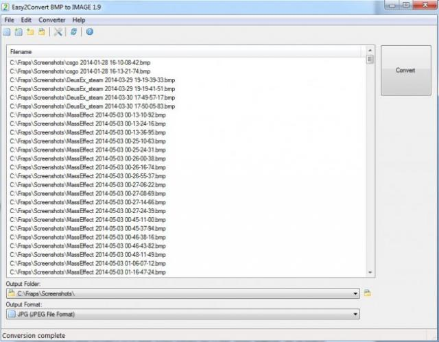 Fichiers BMP en JPG