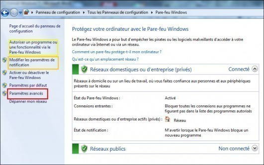 firewall windows 7 3