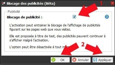freebox revolution activer le blocage des publicites 4