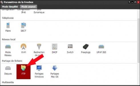 freebox revolution configurer le ftp 3