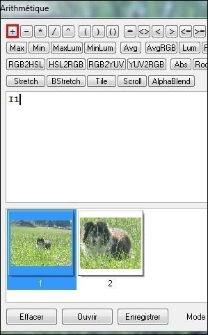 fusionner deux images avec effet de transparence sous photofiltre 2