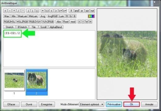 fusionner deux images avec effet de transparence sous photofiltre 3