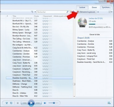 graver des mp3 en cd audio avec windows 7 3
