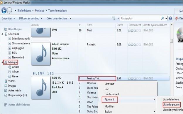 graver des mp3 en cd audio avec windows media 1