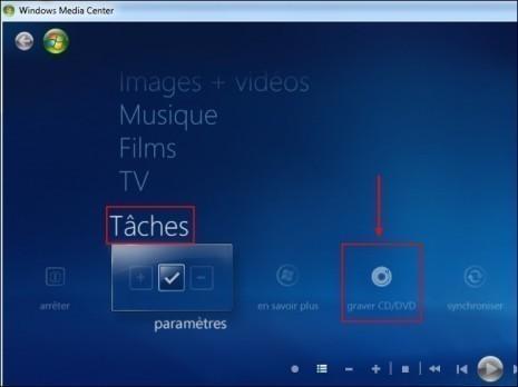 graver un cd mp3 avec windows media center 2