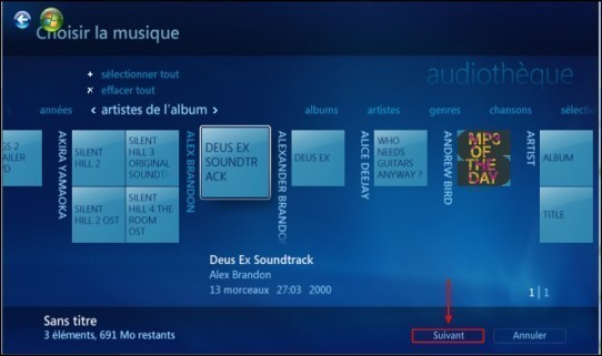 graver un cd mp3 avec windows media center 6