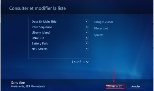 graver un cd mp3 avec windows media center 8