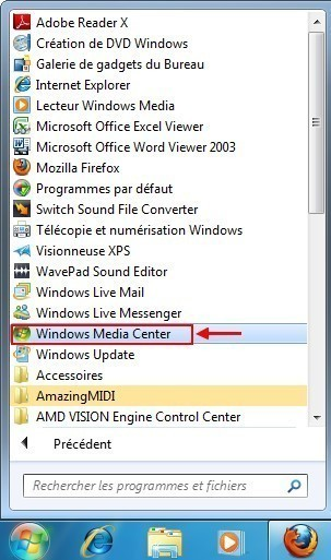 graver un cd mp3 avec windows media center 1