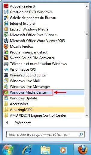 graver un cd mp3 avec windows media center 1