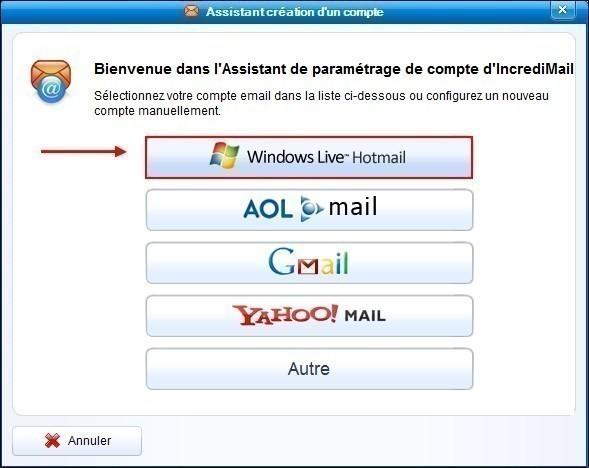 incredimail ajouter un compte hotmail 2
