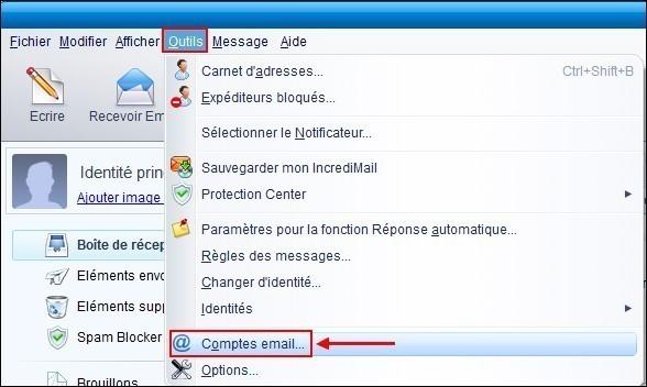 IncrediMail ajouter un compte Hotmail