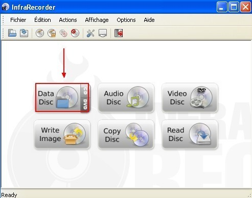 infrarecorder graver un cd dvd de donnees 0