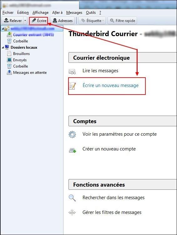 inserer une image dans un email avec thunderbird 1