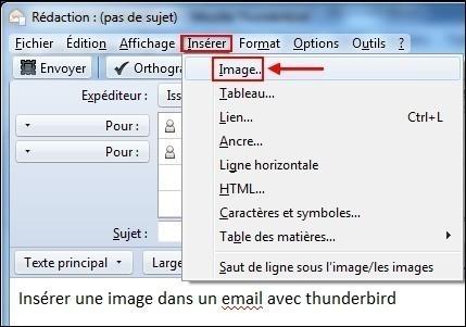 inserer une image dans un email avec thunderbird 2