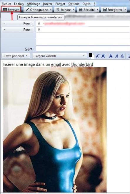 inserer une image dans un email avec thunderbird 5