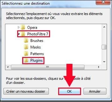 installer un module complementaire pour photofiltre 4