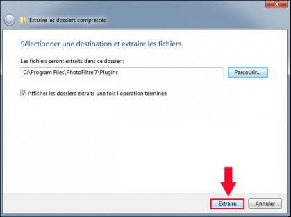 installer un module complementaire pour photofiltre 5