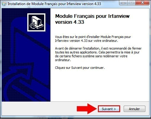installer un pack de langue pour irfanview 1
