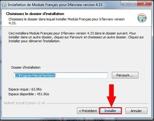 installer un pack de langue pour irfanview 3