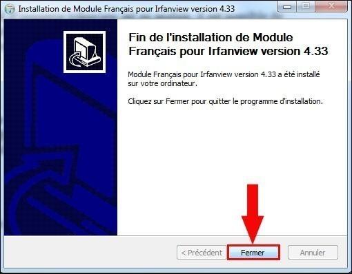 installer un pack de langue pour irfanview 4