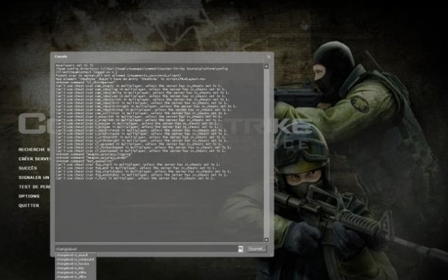 Les commandes console de base Counter Strike Source