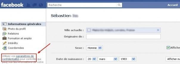 limiter l acces a ses donnees avancees sur facebook 1