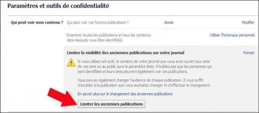 limiter l acces aux anciennes publications facebook 3