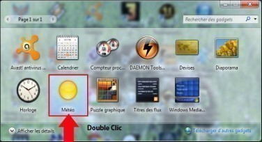 meteo sur bureau windows 7 2