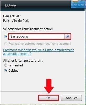 meteo sur bureau windows 7 5