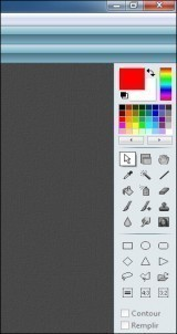 Mettre la barre d'outils de photofiltre à gauche