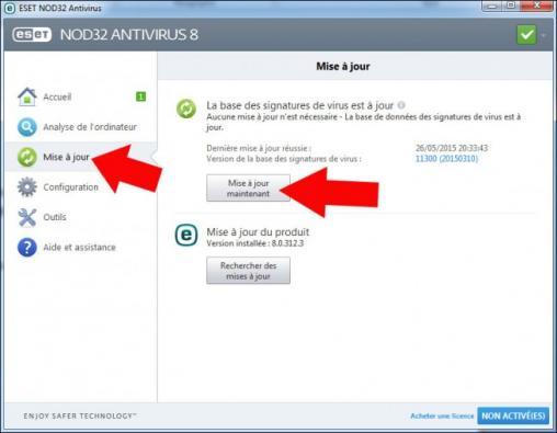 mise a jour manuelle antivirus nod32 1