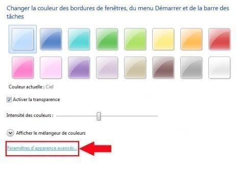 modifier la taille des info bulles windows 7 3