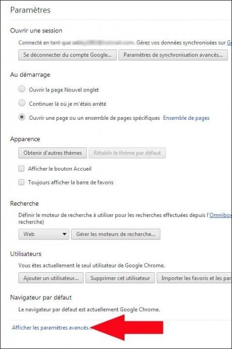 modifier la taille des polices google chrome 2